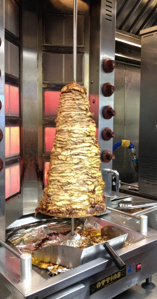 Chicken used in the Shawarma