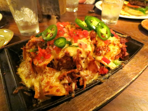 Geronimo's nachos with chimayo pork