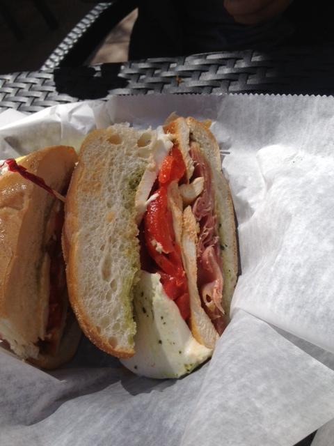 Prosciutto, Mozzarella, and Pesto Sandwich (#7)