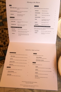 temporary menu